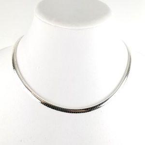 "Sterling Silver 18"" Omega Necklace"